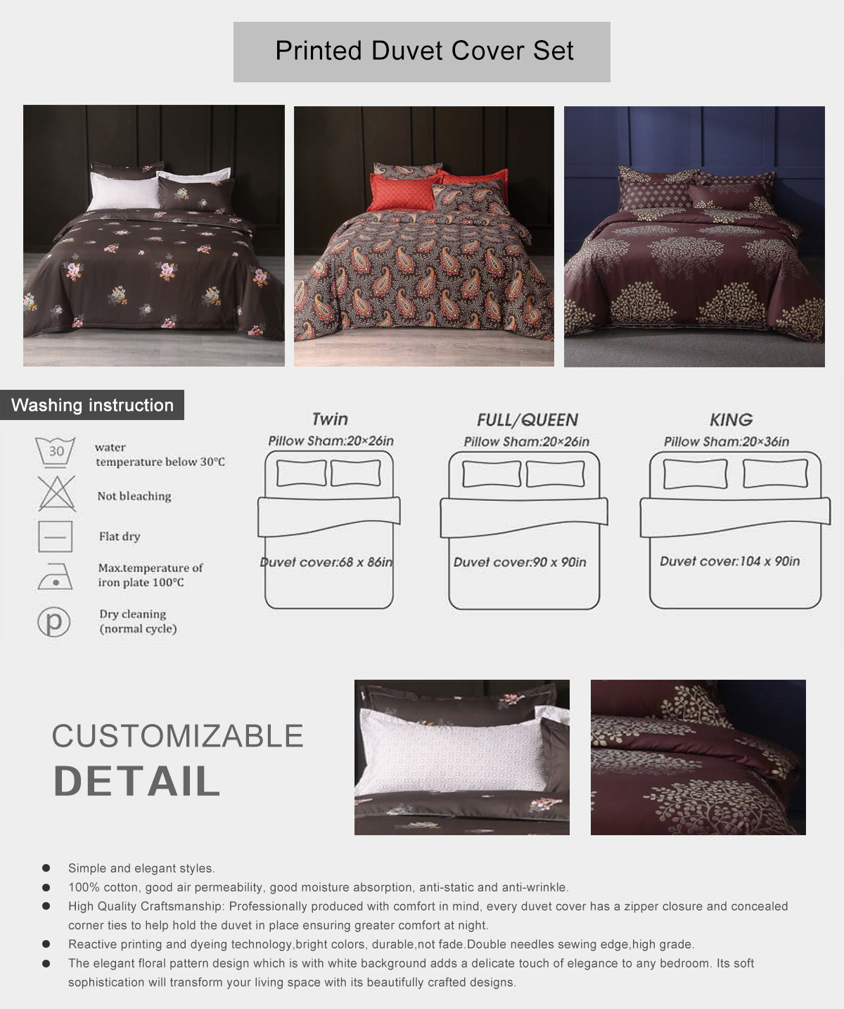 Printed Duvet Cover Set