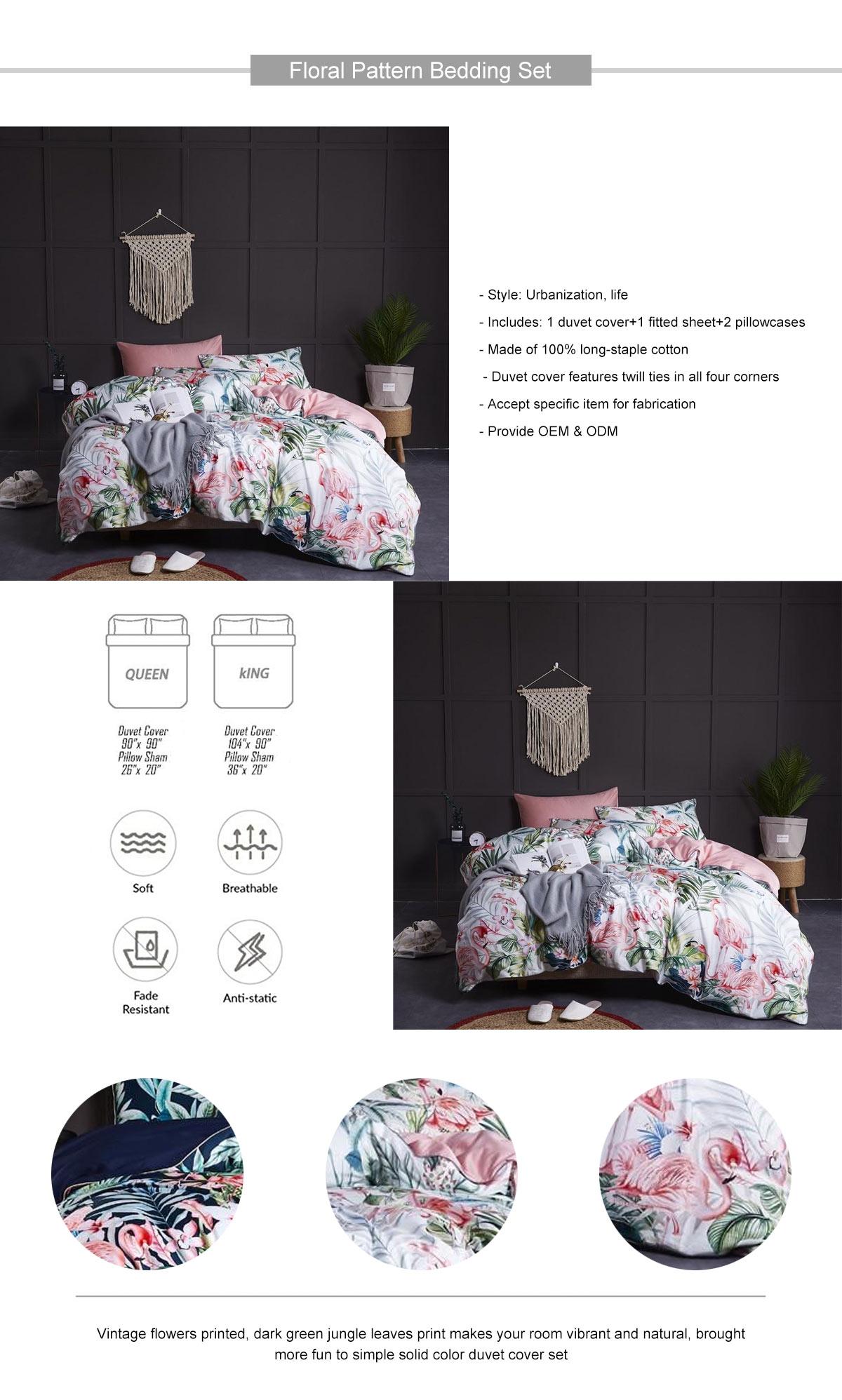Floral Pattern Bedding Set