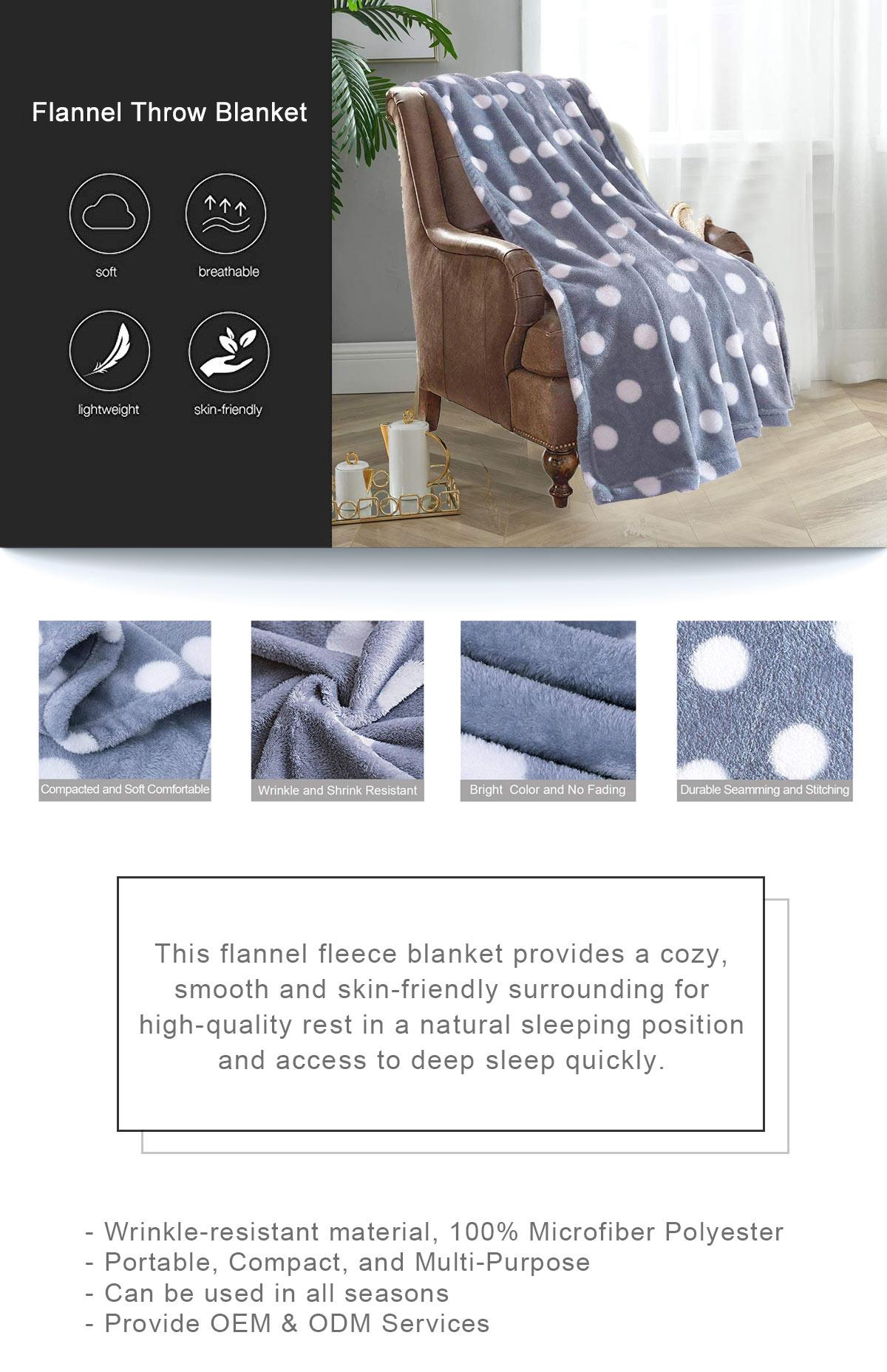 Flannel Throw Blanket