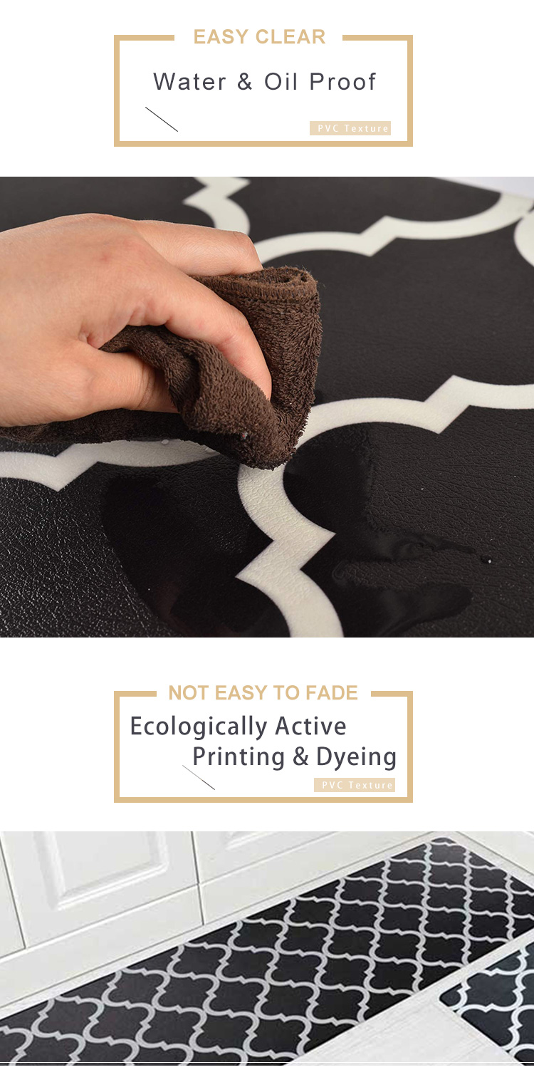 Kitchen PVC Leather Mat