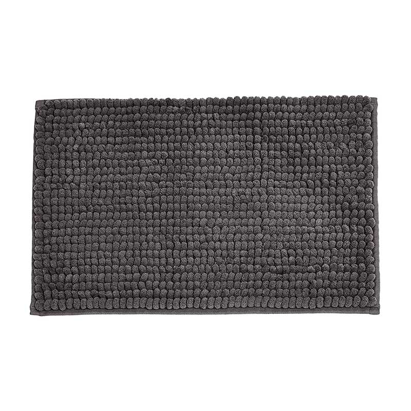 Solid Color Chenille Loop Bath Mat