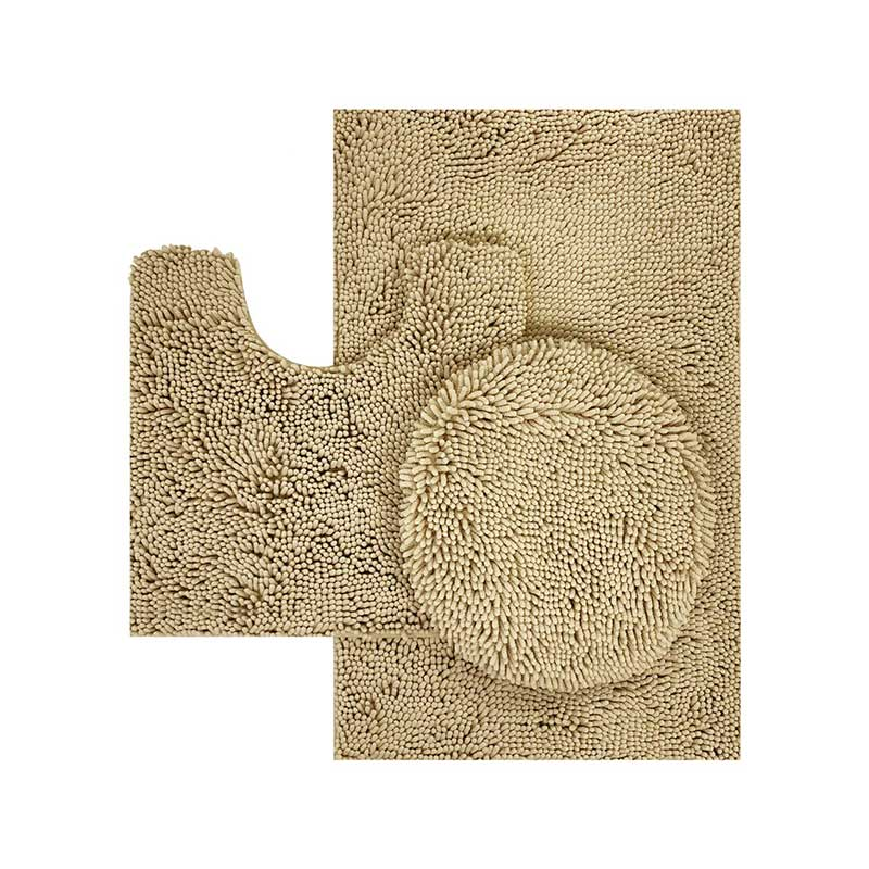 Chenille Loop Bathroom Rug Set