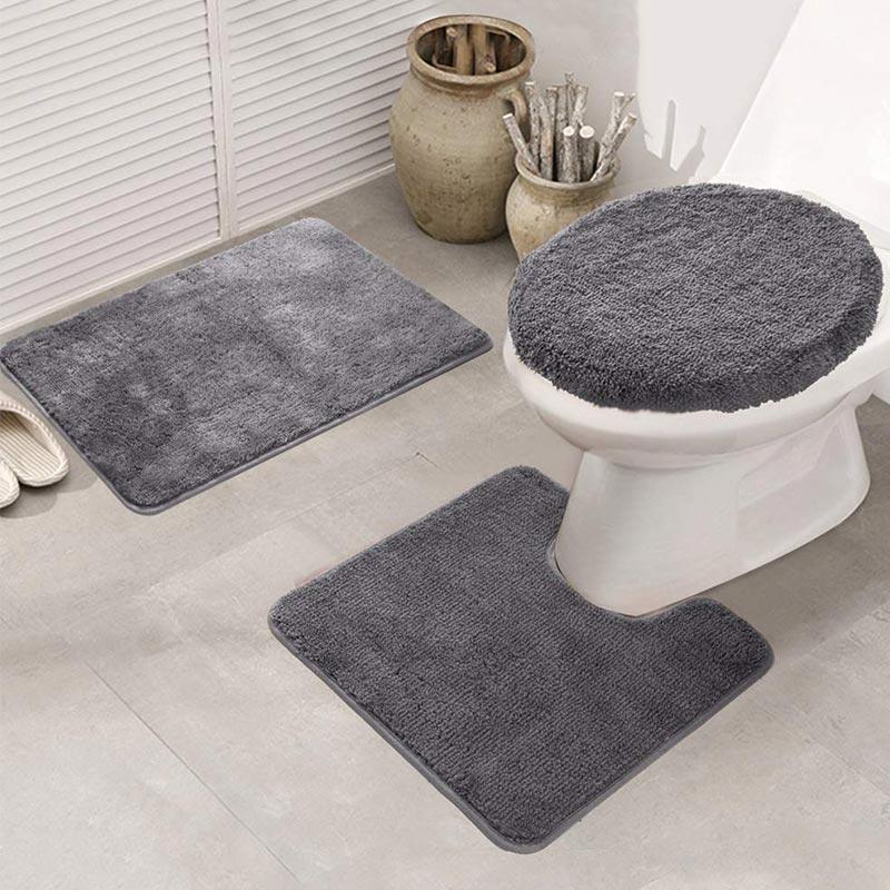 Toilet Area Rugs Set 3 Piece
