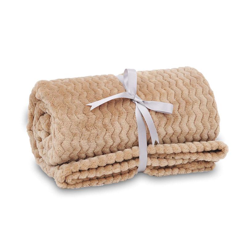 Wave Flannel Throw Blanket