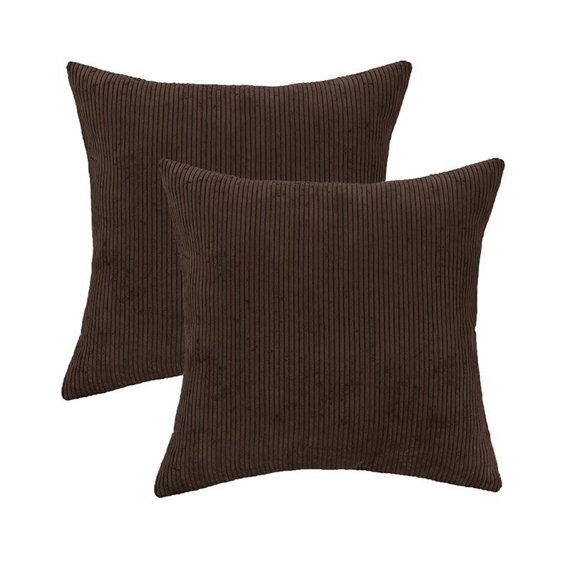 Corduroy Striped Cushion Cover