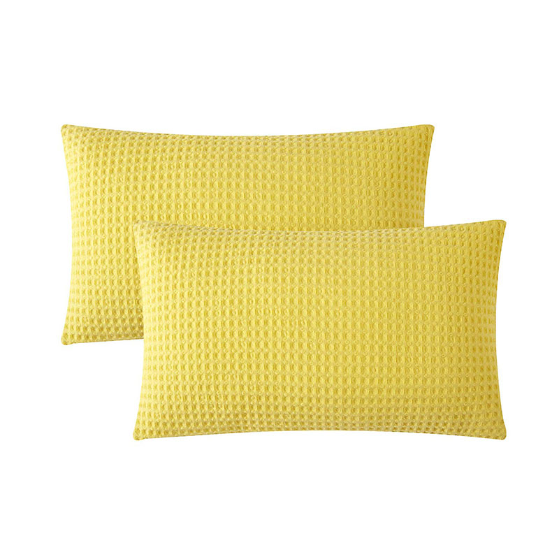 Waffle Weave Throw Pillow Cover