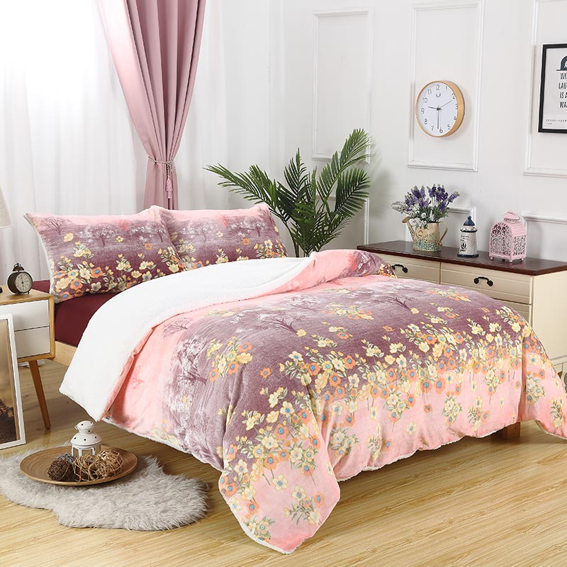 Flannel Sherpa Comforter Set