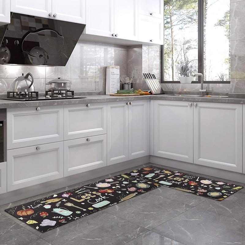 PVC Kitchen Floor Mats Set