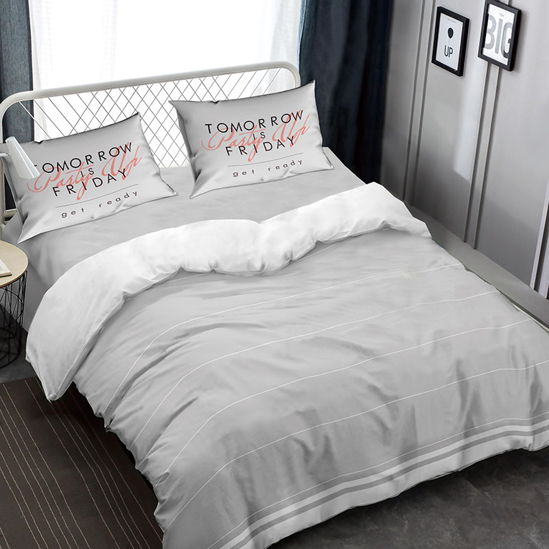 Mailmax Reversible Stripe Duvet Cover