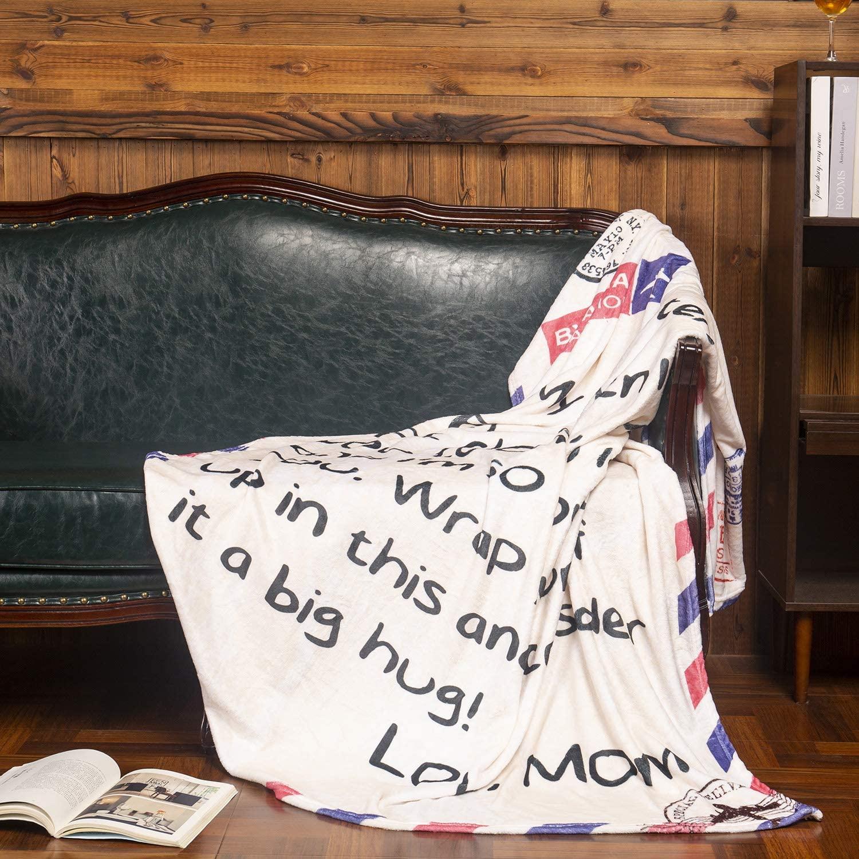 Letter Throw Fleece Blanket